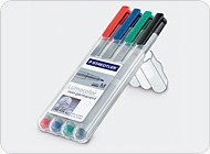 Penne Cancellabili per Battlemat e Token - 4 Colori