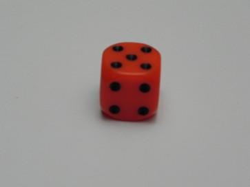 Dado Opaco Arancione - Mini D6 con puntini