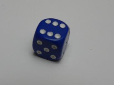 Dado Opaco Blu - Mini D6 con puntini