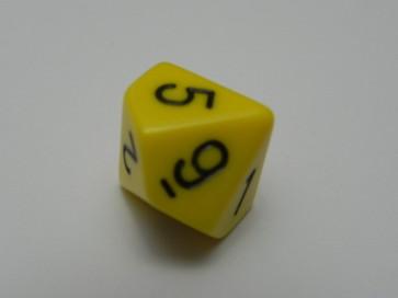 Dado Opaco Giallo- D10