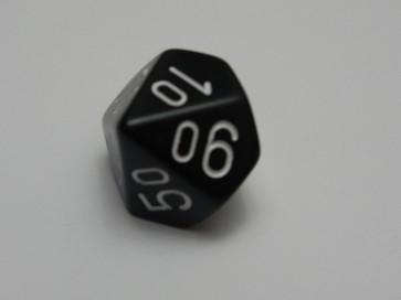 Dado Opaco Nero/Bianco- D10%