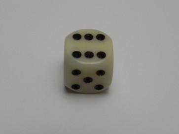 Dado Opaco Panna - Mini D6 con puntini