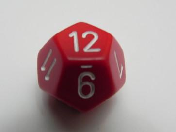 Dado Opaco Rosso - D12