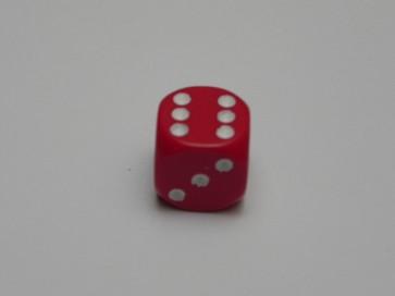 Dado Opaco Rosso - Mini D6 con puntini