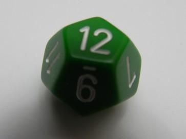 Dado Opaco Verde - D12