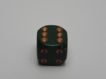 Dado Opaco Verde Scuro - Mini D6 con puntini