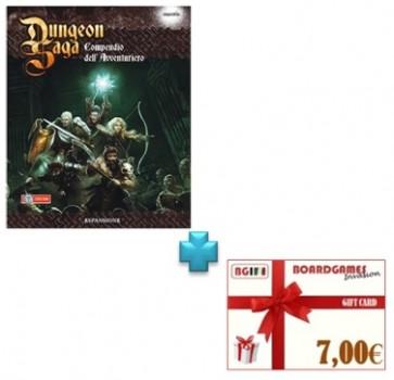 Dungeon Saga Compendio dell'avventuriero con buono prossimo acquisto