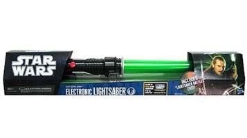 Star Wars - Spada Laser Telescopica Elettronica Qui-Gon Jinn