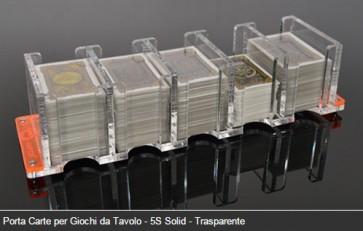 Porta Carte per Giochi da Tavolo - 5S Solid - Trasparente (E-raptor)