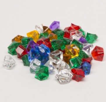 Crystal gems (25 pezzi) - Rosa