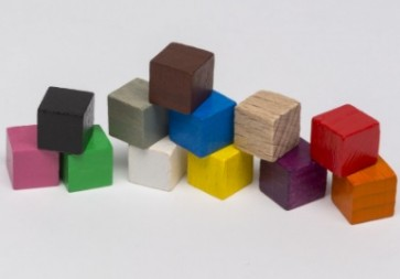 Cubi 10mm (25 pezzi) - Rosa