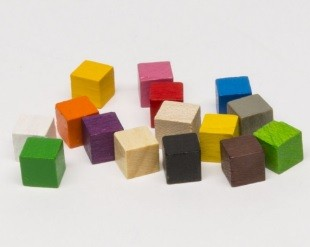 Cubi 8mm (10 pezzi) - Bianchi
