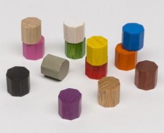 Ottagoni 10mm (25 pezzi) - Rossi