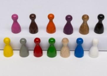 Pawns Medi (25 pezzi) - Marroni