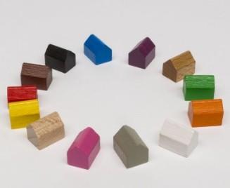Settlement 14x10x12mm (10 pezzi) - Verdi