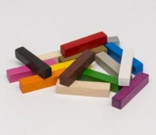 Bastoni 5x5x25mm (25 pezzi) - Bianchi