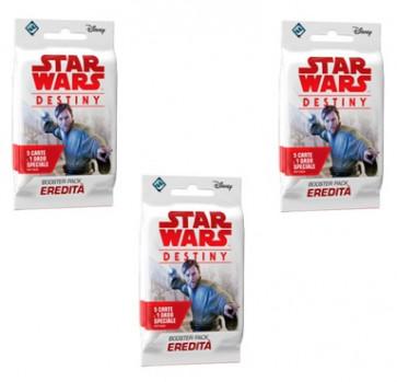 SOTTOCOSTO: 3x Star Wars Destiny Booster Pack Eredità