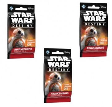 SOTTOCOSTO: 3x Star Wars Destiny Booster Pack Risvegli