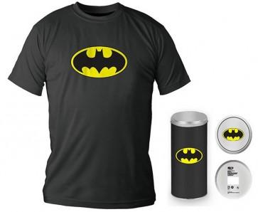 T-Shirt Dc Comics Batman Logo Black Boy Deluxe (Taglia Extra Large - XL)