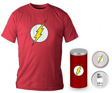T-Shirt Dc Comics Flash Logo Red Boy Deluxe (Taglia Extra Extra Large - XXL)