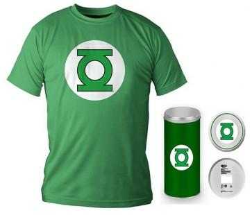 T-Shirt Dc Comics Green Lantern Logo Green Boy Deluxe (Taglia Large)