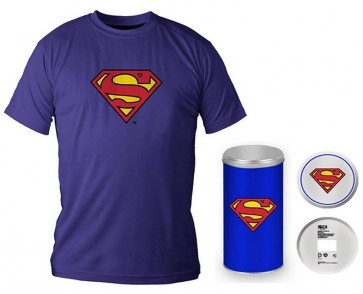 T-Shirt Dc Comics Superman Logo Blue Boy Deluxe (Taglia Large)