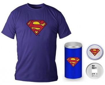 T-Shirt Dc Comics Superman Logo Blue Boy Deluxe (Taglia Extra Large - XL)