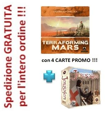 Terraforming Mars in italiano con 4 carte Promo + gioco Jerusalem in omaggio !!!