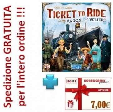 Ticket to Ride Vagoni e Velieri con buono prossimo acquisto