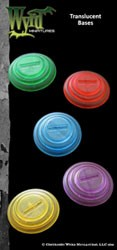 Purple Translucent 30mm Bases (10)