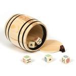 Bussolotto Lanciadadi - Legno + Dadi Poker
