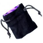 Sacchetto Piccolo Velluto Nero - Seta Viola