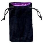 Sacchetto Grande Velluto Nero - Seta Viola
