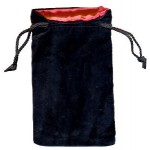 Sacchetto Grande Velluto Nero - Seta Rossa