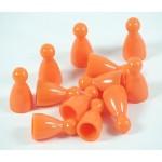 Pedine con Testa per Giochi da Tavolo - Arancioni (E-raptor)