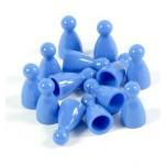 Pedine con Testa per Giochi da Tavolo - Blu (E-raptor)