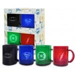 Set di 4 tazze translucenti Supereroi Dc Comics