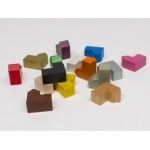 Churches cities 19x19x10mm (10 pezzi) - Blu