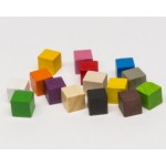 Cubi 8mm (25 pezzi) - Rossi