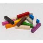 Bastoni 5x5x25mm (10 pezzi) - Verdi