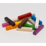 Bastoni 5x5x25mm (10 pezzi) - Neri