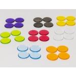 Chips 15mm trasparenti (10 pezzi) - Gialli