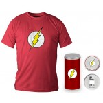 T-Shirt Dc Comics Flash Logo Red Boy Deluxe (Taglia Medium)