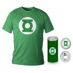 T-Shirt Dc Comics Green Lantern Logo Green Boy Deluxe (Taglia Extra Extra Large - XXL)
