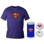 T-Shirt Dc Comics Superman Logo Blue Boy Deluxe (Taglia Medium)