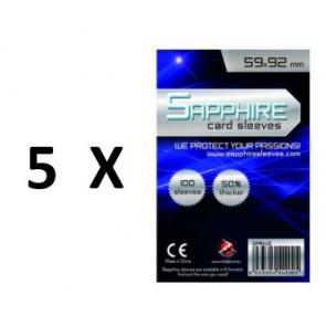 SOTTOCOSTO: 5 pacchi da 100 Bustine protettive Sapphire formato 59x92mm