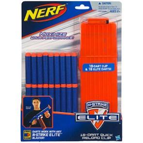 NERF - N-Strike Elite 18 Dart Clip + Refill