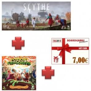Pozioni Esplosive espansione quinto elemento + Espansione Scythe Invaders from Afar + buono prossimo acquisto !