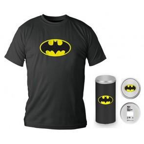 T-Shirt Dc Comics Batman Logo Black Boy Deluxe (Taglia Large)