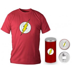 T-Shirt Dc Comics Flash Logo Red Boy Deluxe (Taglia Extra Large - XL)